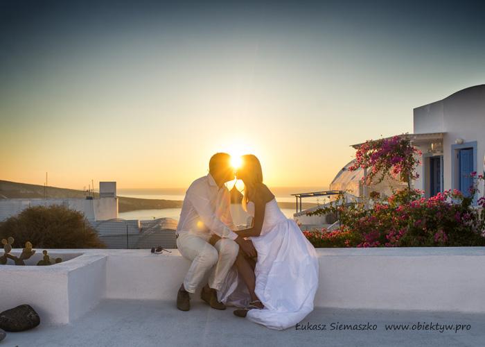 Ślub na Santorini w Grecji